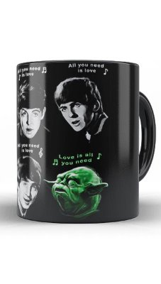 Caneca The Beatles e Yoda - Star Wars