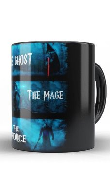 Caneca The Lord of Rings The Ghost The Mage The Force