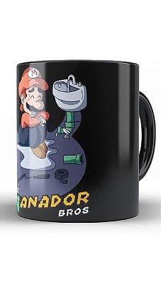 Caneca Super Mario Enganador Bros