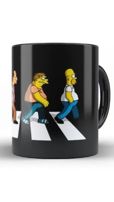 Caneca Simpsons Beatles