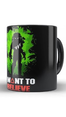 Caneca Aliens vs Predador I Wont to Believe