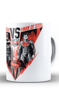 Caneca Batman vs Super Man