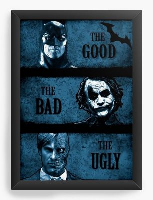 Quadro Decorativo Batman The Good The Bad