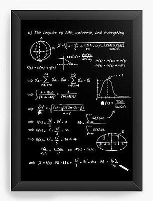 Quadro Decorativo Formula Universe