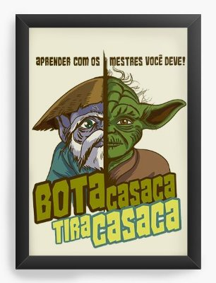 Quadro Decorativo Star Wars - Bota Casaca