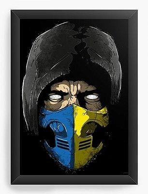 Quadro Decorativo  Scorppion Mortal Kombat