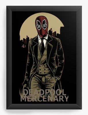 Quadro Decorativo Deadpool Mercenary