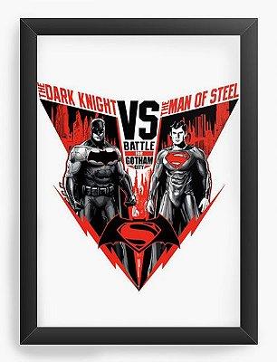 Quadro Decorativo Batman Vs Super Men