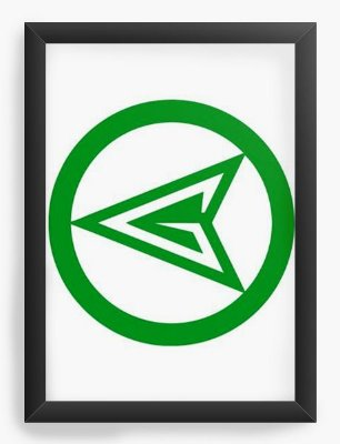 Quadro Decorativo Lanterna Verde