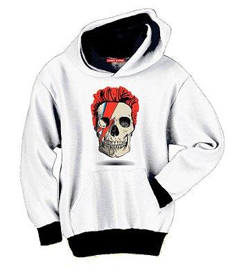 Blusa com Capuz David Bowie Skull