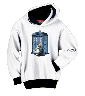 Blusa com Capuz Alice Doctor Who