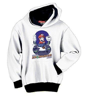 Blusa com Capuz Super Mario Encanador