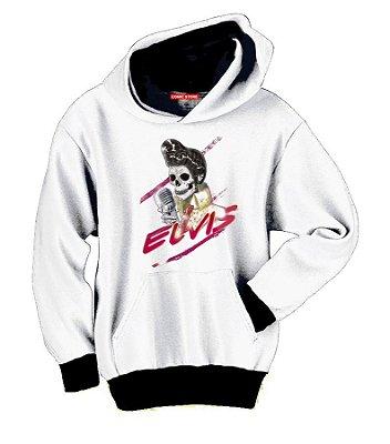Blusa com Capuz Skull Elvis