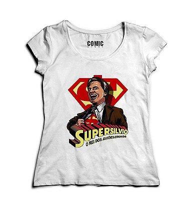 Camiseta Feminina Super Silvio Santos