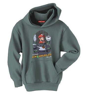 Blusa com Capuz Super Mario Enganador Bros