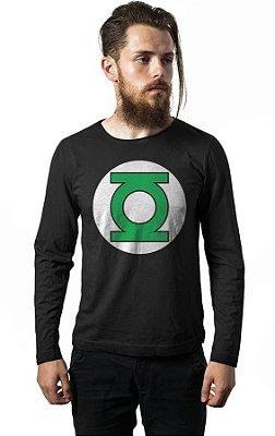 Camiseta Manga Longa Lanterna Verde