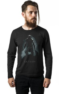 Camiseta Manga Longa Skyrim