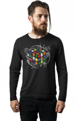 Camiseta Manga Longa Cubo Magico