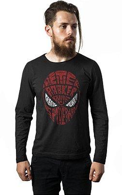 Camiseta Manga Longa Homem Aranha