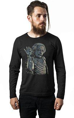 Camiseta Manga Longa Albert Einstein