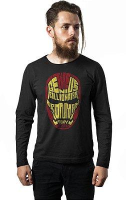 Camiseta Manga Longa Homem de Ferro - Heroi