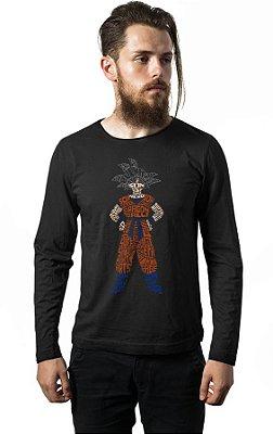 Camiseta Manga Longa Goku Dragon Ball
