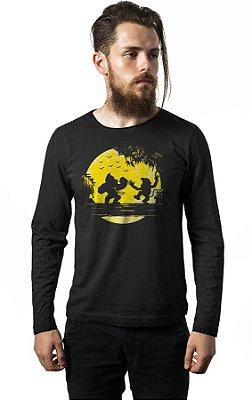 Camiseta Manga Longa Donkey Kong