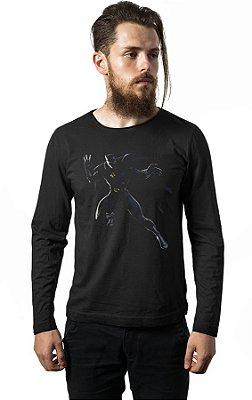 Camiseta Manga Longa Pantera Negra