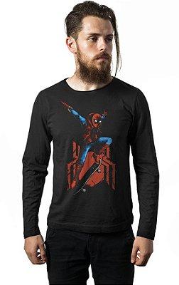 Camiseta Manga Longa Homem Aranha - Skate