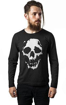 Camiseta Manga Longa Skull Ghost