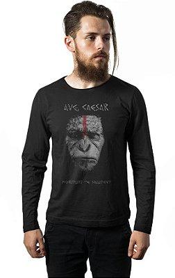 Camiseta Manga Longa Planeta dos Macacos