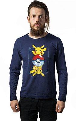Camiseta Manga Longa Pikachu