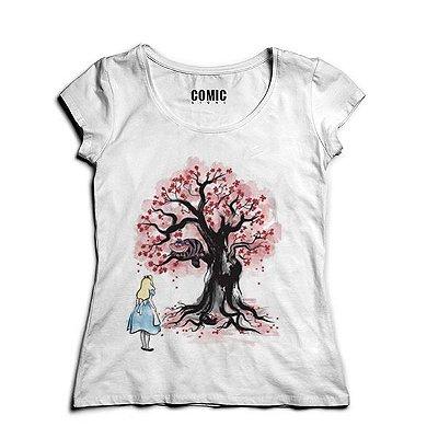 Camiseta Feminina Alice no País das Maravilhas