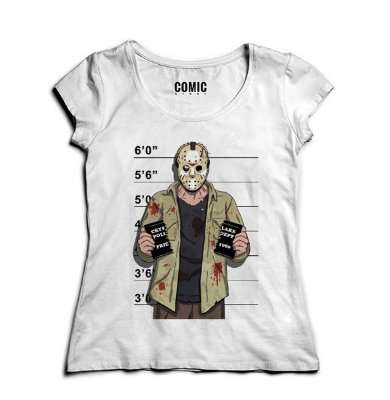 Camiseta Feminina Jason - Suspeito
