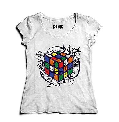 Camiseta Feminina Cubo Magico