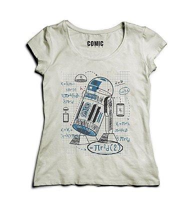 Camiseta Feminina R2-D2 Star Wars