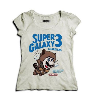 Camiseta Feminina Super Galaxy - Mario