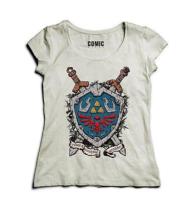 Camiseta Feminina Zelda - Escudo