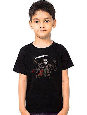 Camiseta Infantil Jason e Freddy