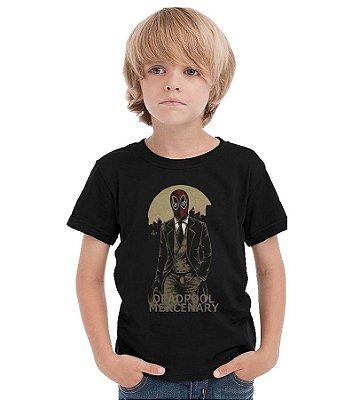 Camiseta Infantil Deadpool Mercenary