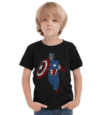 Camiseta Infantil Capitão America