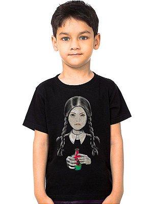 Camiseta Infantil Familia Addams
