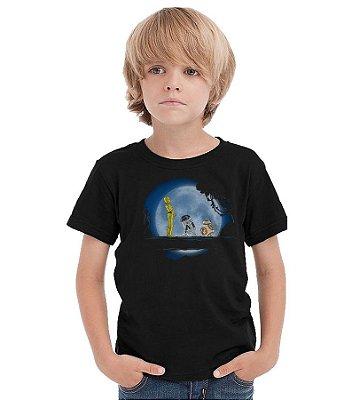 Camiseta Infantil BB-8 E R2-D2