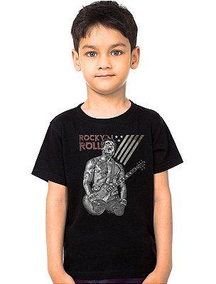 Camiseta Infantil Rock Roll