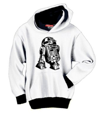 Blusa com Capuz Star Wars r2 d2