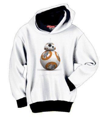 Blusa com Capuz BB-8 Star Wars