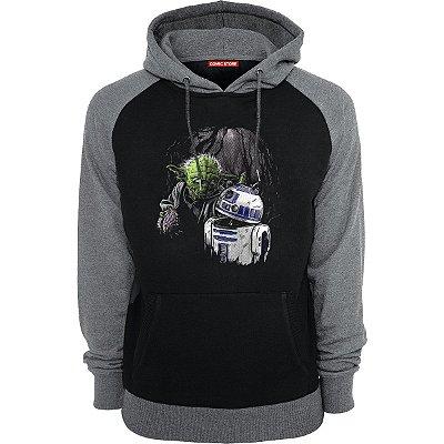 Blusa com Capuz Yoda e R2-D2