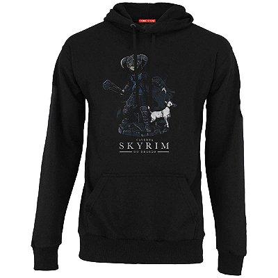 Blusa com Capuz Skyrim - Caverna do Dagão