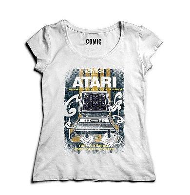 Camiseta Feminina Atari Video Game