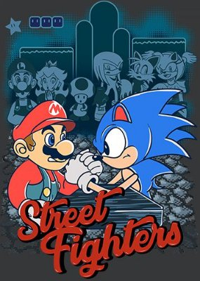 Camiseta Super Mario vs Sonic - Game